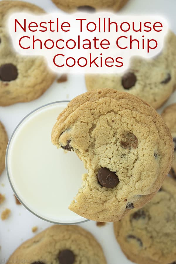 Text on image Nestle Tollhouse Chocolate Chip Cookies