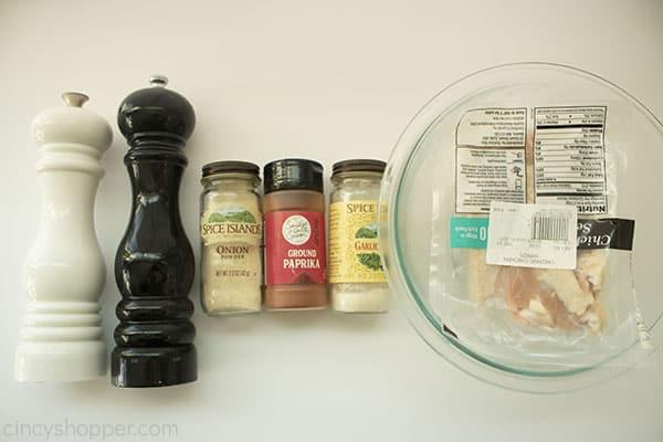 Ingredients for chicken wings in air fryer