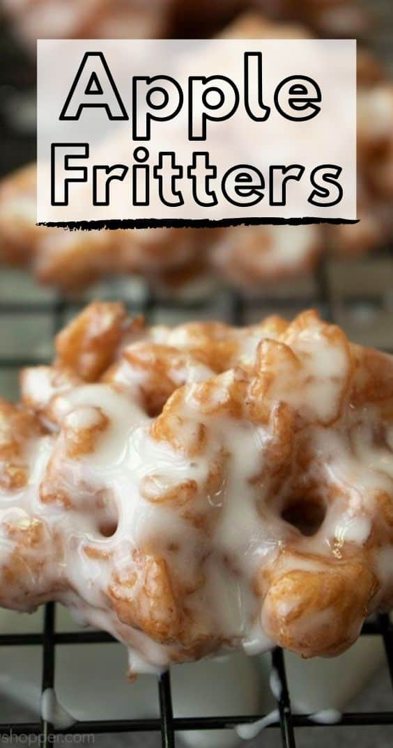 Long Pin image with text Apple Fritters