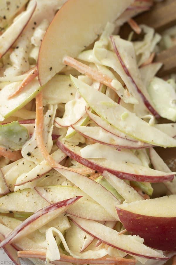 Closeup of apple slaw