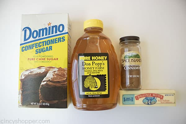 Ingredients to make Cinnamon Butter like Texas Roadhouse