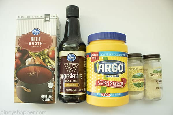 Ingredients for Homemade Brown Gravy Recipe