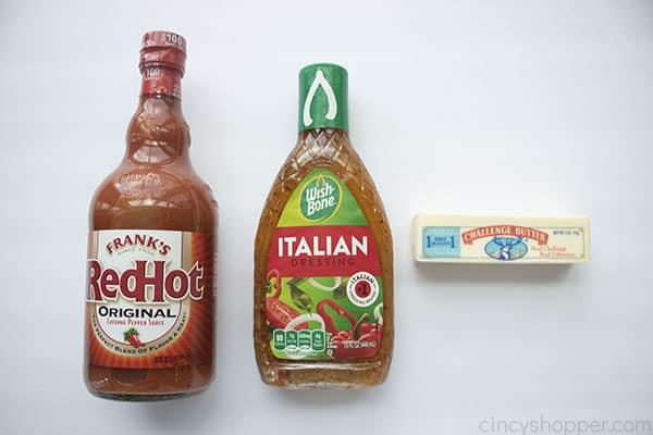 Ingredients to make Buffalo Sauce