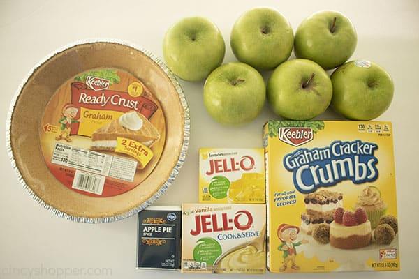 Ingredients to make No Bake Apple Pie.