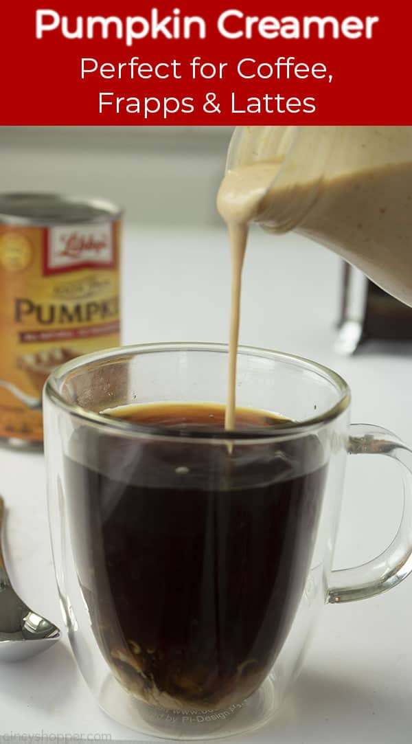 Long pin with banner Pumpkin Creamer -Perfect for Coffee, Frapps & Lattes