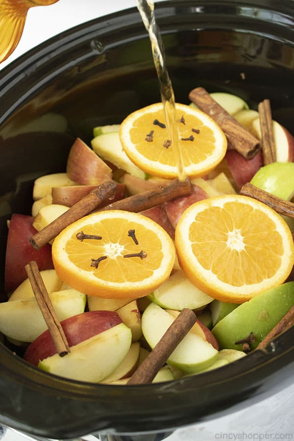 Juice added to slow cooker