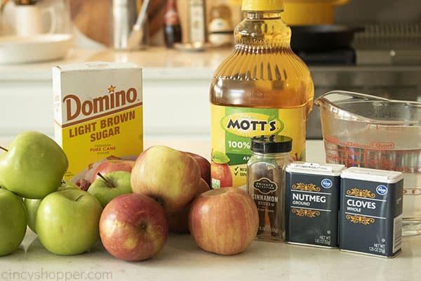 Ingredients for homemade cider