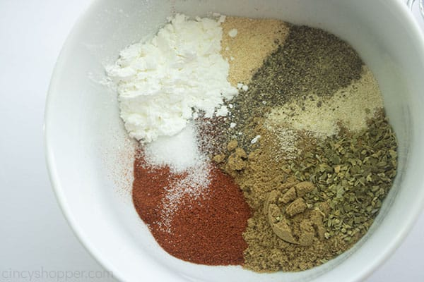 Ingredients in a bowl