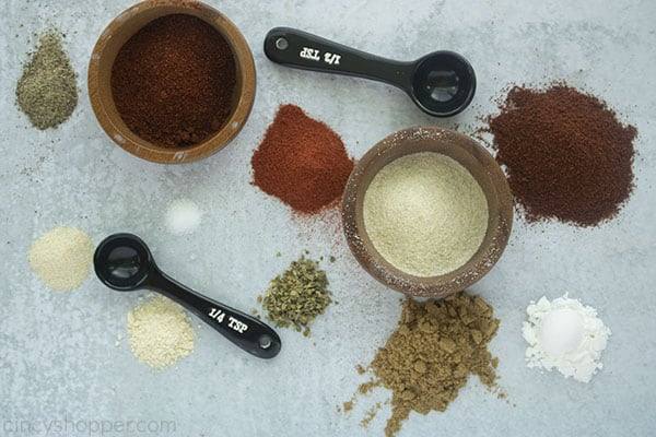 ingredients on a board