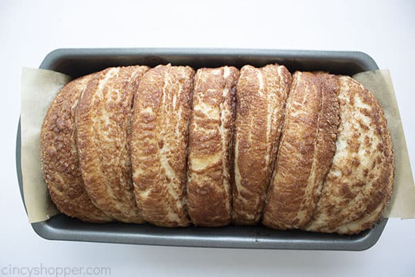 Cinnamon bread pull aprt rising