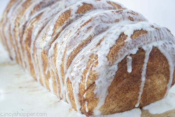Loaf of Cinnamon Bread with Galze