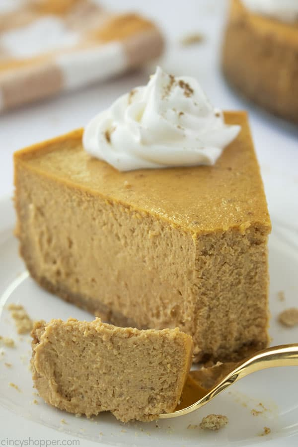 Fork with Pumpkin Cheesecake