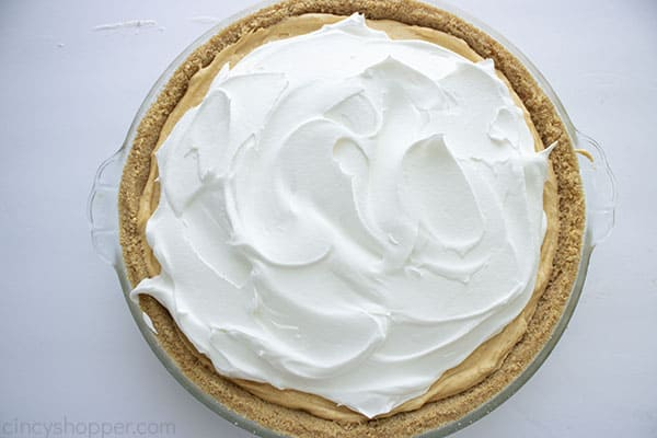 Whipped topping added to pie