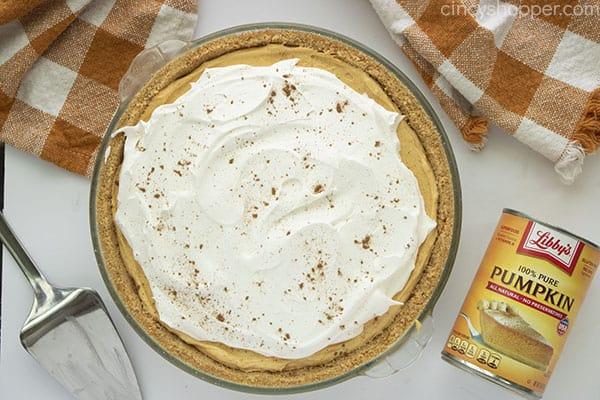 Finished creamy pumpkin pie