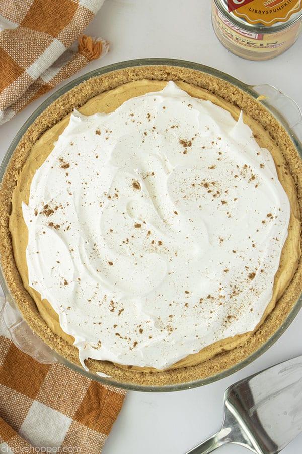 Overhead of Pumpkin Pie