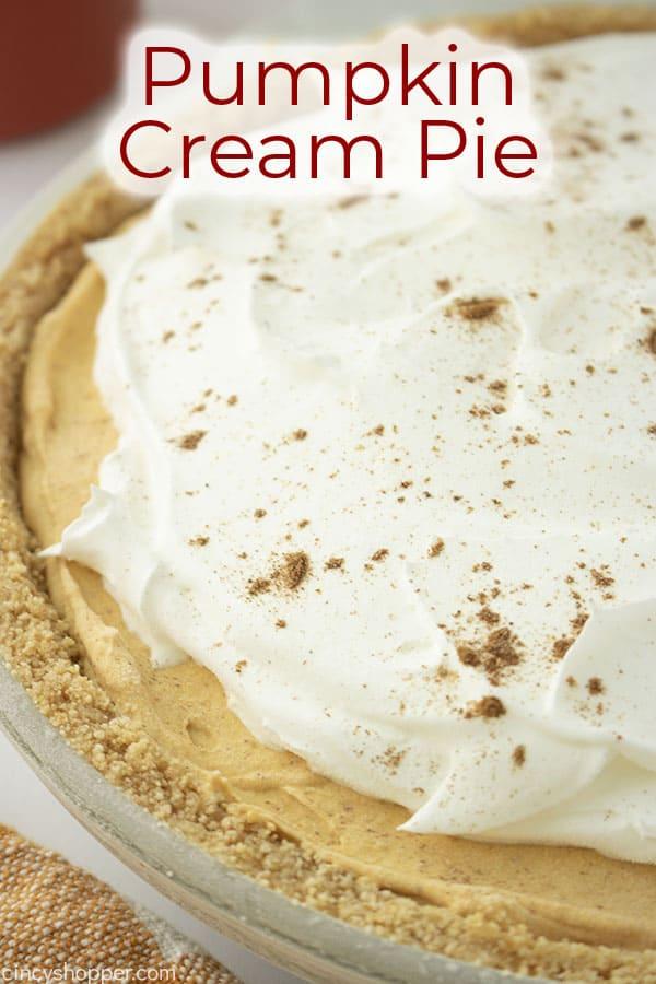 Text on image Pumpkin Cream Pie