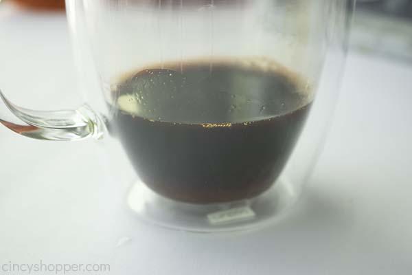 Coffee added to mug