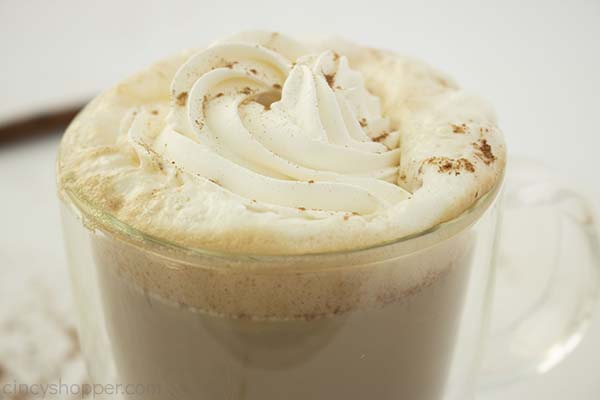 Pumpkin Spice Latte with whipped cream and dusting
