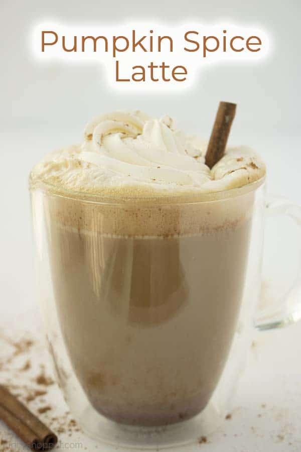 Text on image Pumpkin Spice Latte