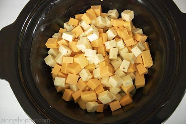 Cheese added to CrockPot