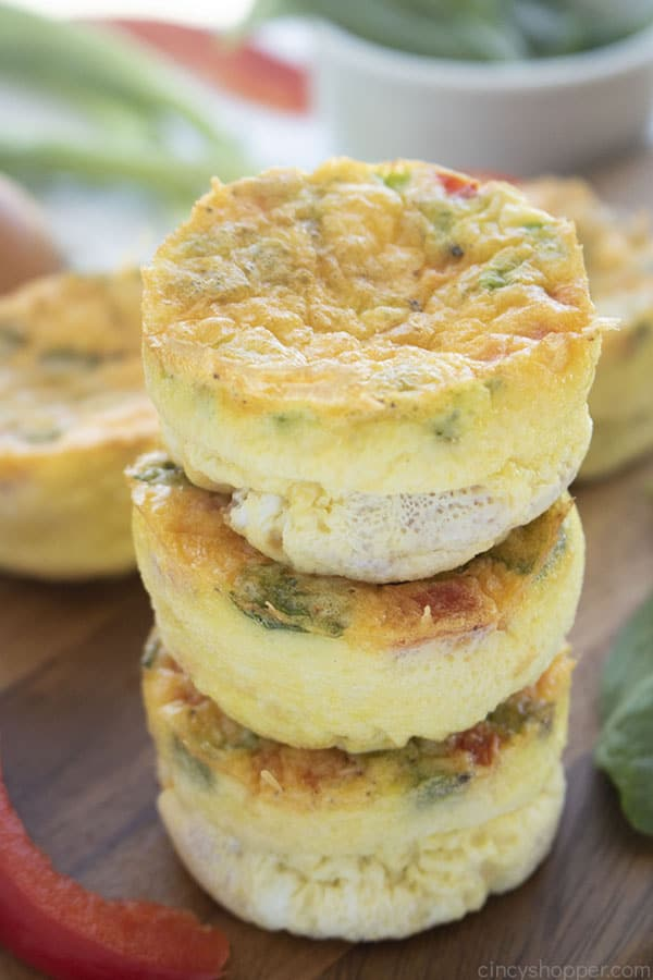 Stack of Breakfast Egg Muffins