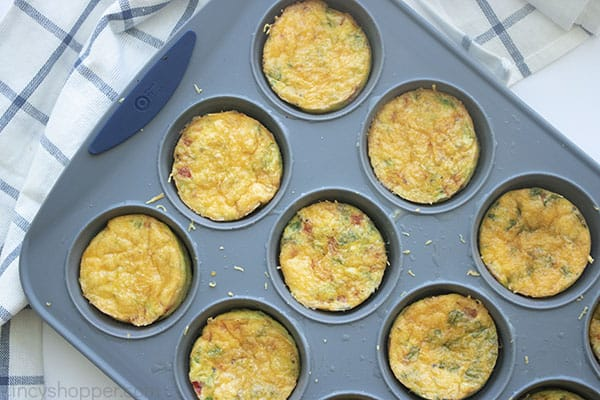 Baked egg muffins in pan