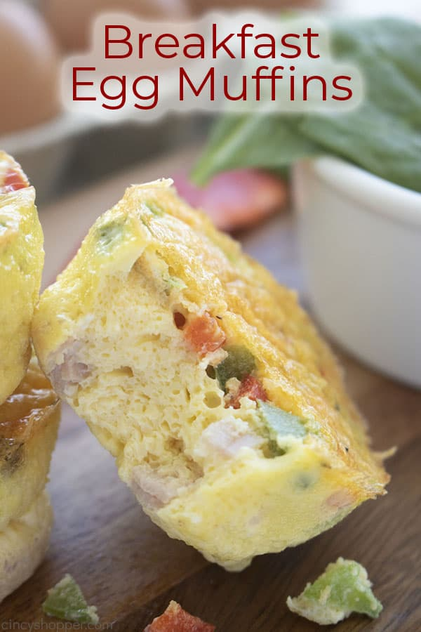 Text on image Breakfast Egg Muffins