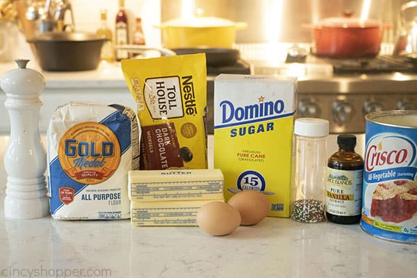 Ingredients for old fashioned butter cookies