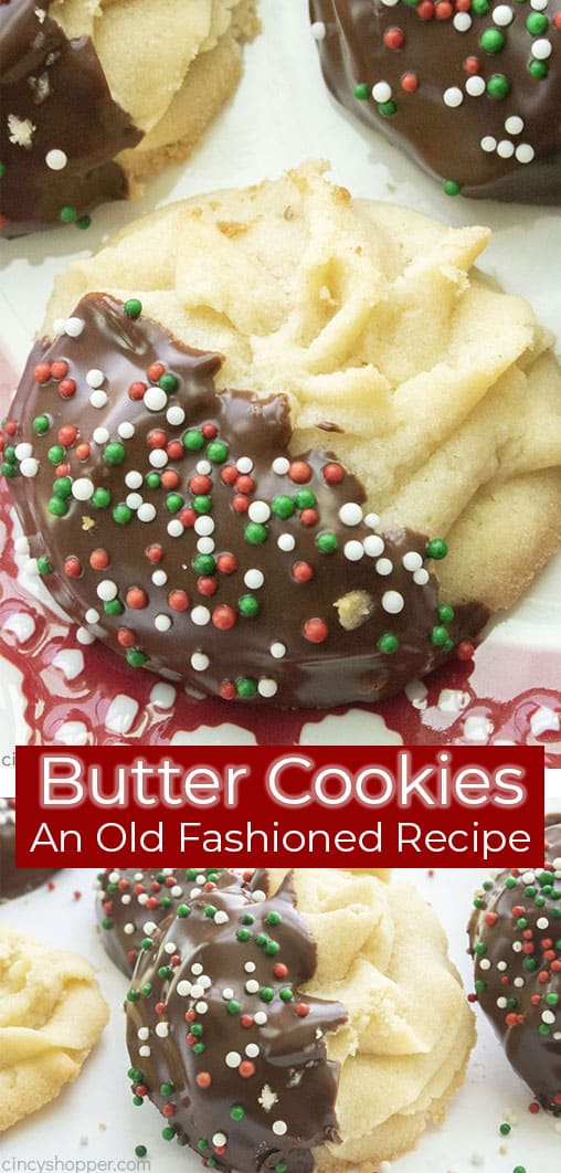Long pin collage text Butter Cookies An Old Fashioned Recipe