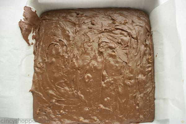 Fudge in baking dish