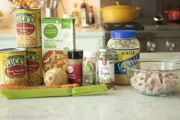 Ingredients for Easy Bean Soup