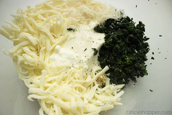 Ingredients for dip in a bowl
