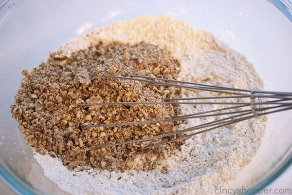 Pecans added to dry ingredients