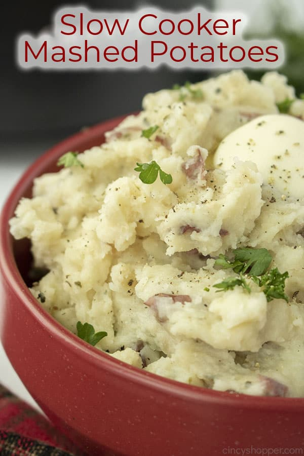 Text on image Slow Cooker Mashed Potatoes