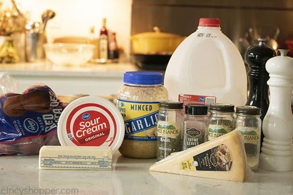 Ingredients for Garlic Mashed Potatoes