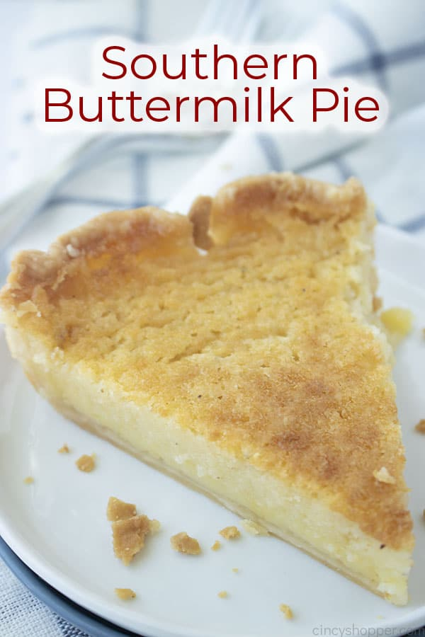 Text on image Southern Buttermilk Pie