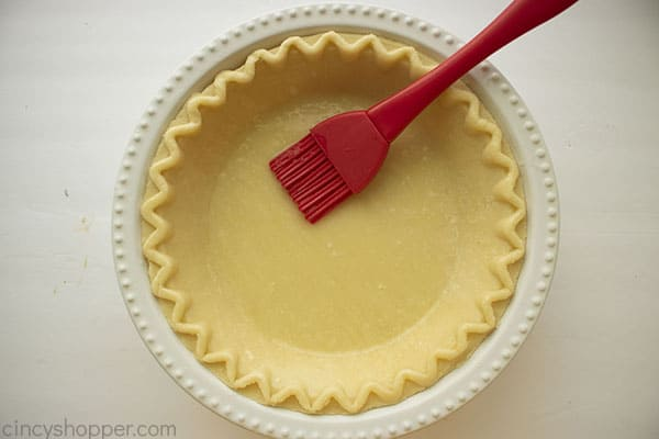 Egg washing pie crust