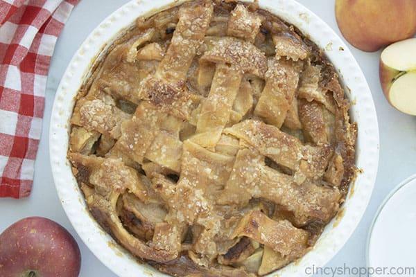 Fresh Baked apple pie with lattice top