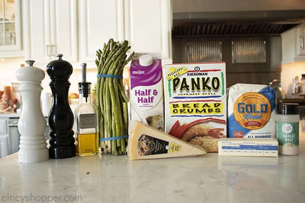 Ingredients for Creamy Asparagus