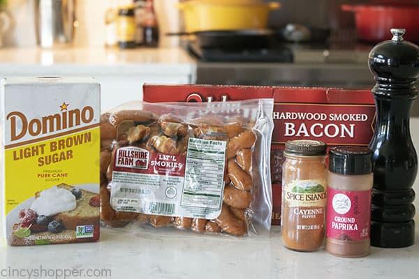 Ingredients to make Little smokies recipe