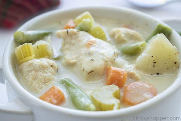 Chicken stew in bowl