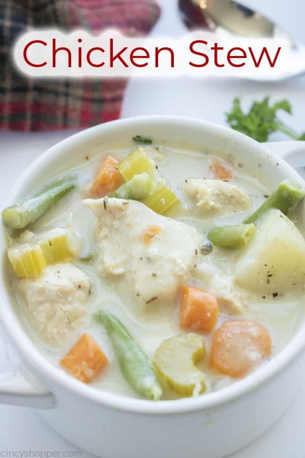 Text on image Chicken Stew