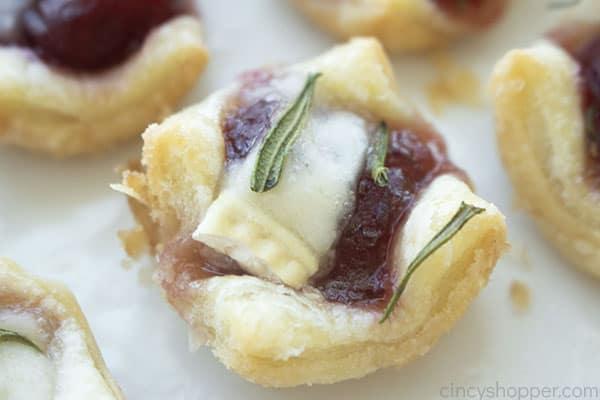 fresh baked Cranberry Brie Bites