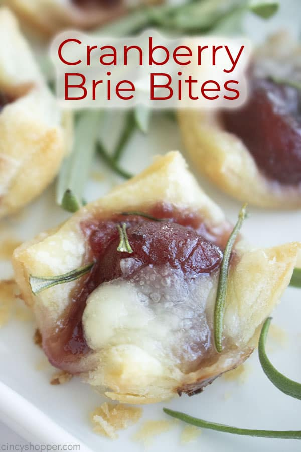 Text on image Cranberry Brie Bites