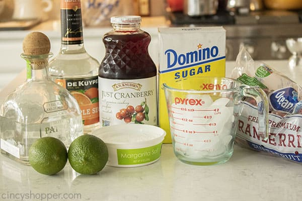 Cranberry Margarita ingredients