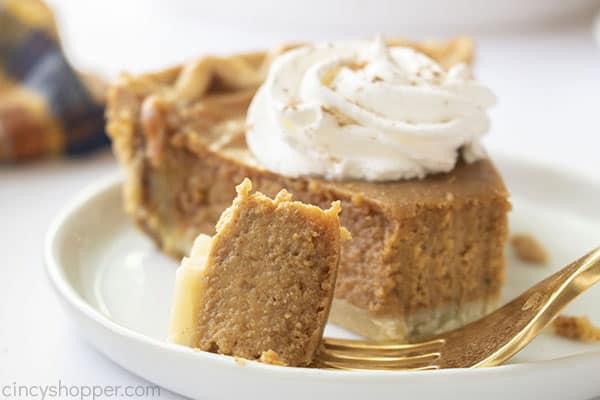 Libbys Pumpkin pie on a fork