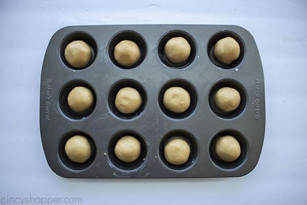 Cookie dough ready to bake