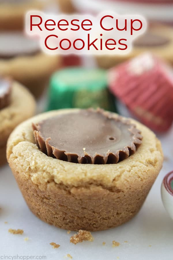 Text on image Reese Cup Cookies