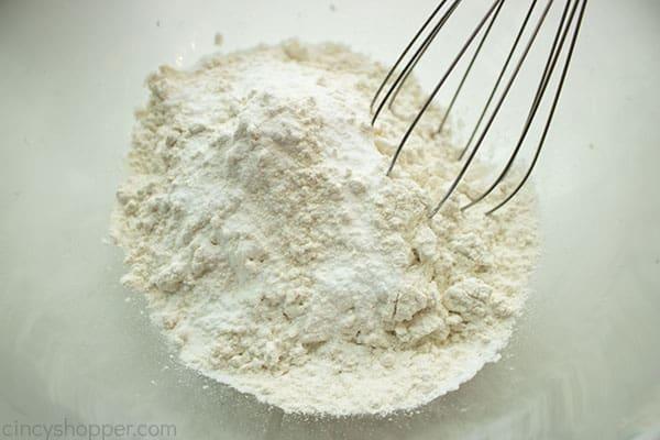 Dry ingredients for cookies