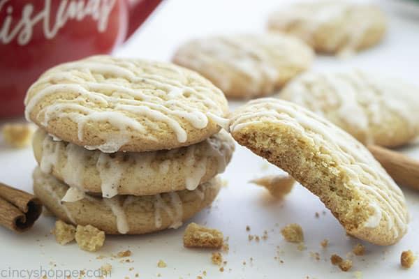 Christmas Eggnog cookies with bite